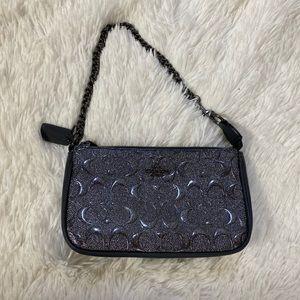 Women's Coach signature small wristlet handbag
